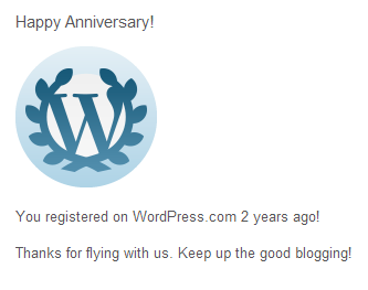Happy 2nd Anniversary to My Blog!